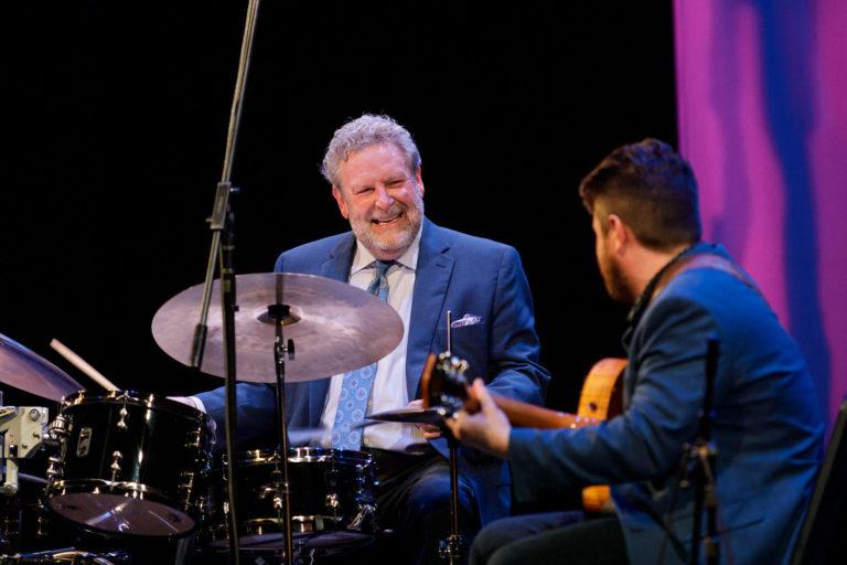 Jeff Hamilton, Akiko Tsuruga, and Graham Dechter Organ Trio performs on the Mainstage at 2019 Centrum Jazz Port Townsend.
