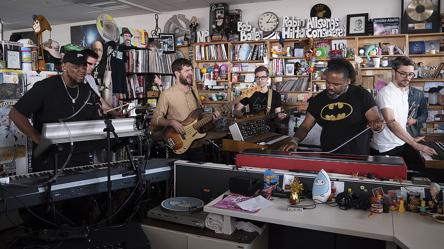 Snarky Puppy performs during a Tiny Desk Concert on Sept. 12, 2019.